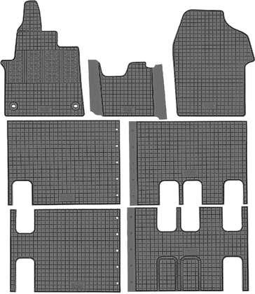 CIK-CAR gumowe dywaniki samochodowe Citroen Jumpy III od 2016r.  CIT00019 CIT00020 CIT00021