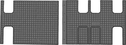 CIK-CAR gumowe dywaniki samochodowe Citroen Jumpy III (III rzad) od 2016r. CIT00021