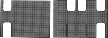 CIK-CAR gumowe dywaniki samochodowe Citroen Jumpy III (II rzad) od 2016r. PEU00018