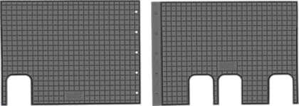 CIK-CAR gumowe dywaniki samochodowe Citroen Jumpy III (II rzad) od 2016r. TOY00005