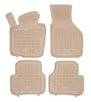 REZAW PLAST beżowe gumowe dywaniki samochodowe Volkswagen Jetta od 2010r. 200102B