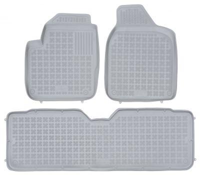 REZAW PLAST popielate gumowe dywaniki samochodowe Volkswagen Sharan 5-osobowe od 1995-2010r. 200103A/S
