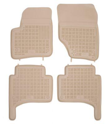 REZAW PLAST beżowe gumowe dywaniki samochodowe Volkswagen Touareg od 2002-2010r. 200105B