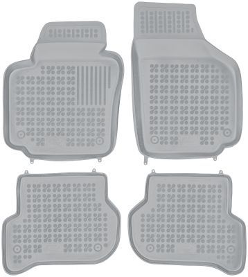 REZAW PLAST popielate gumowe dywaniki samochodowe Skoda Yeti od 2009r. 200106S/Z