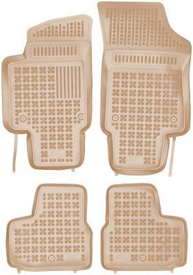 REZAW PLAST beżowe gumowe dywaniki samochodowe Skoda Citigo od 2012r. 200115B/Z