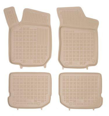 REZAW PLAST beżowe gumowe dywaniki samochodowe Seat Leon I od 1999-2005r. 200201B