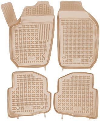 REZAW PLAST beżowe gumowe dywaniki samochodowe Skoda Fabia I od 1999-2007r. 200203B/Z