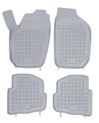 REZAW PLAST popielate gumowe dywaniki samochodowe Skoda Fabia I od 1999-2007r. 200203S