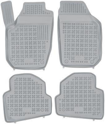REZAW PLAST popielate gumowe dywaniki samochodowe Skoda Fabia II od 2007-2014r. 200204S/Z
