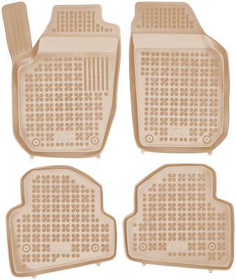 REZAW PLAST beżowe gumowe dywaniki samochodowe Skoda Fabia II od 2007-2014r. 200204B/Z