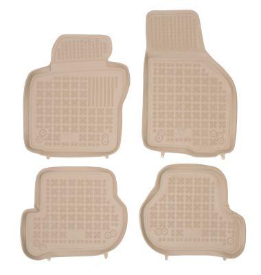 REZAW PLAST beżowe gumowe dywaniki samochodowe Skoda Octavia II od 2004-2008r. 200206B