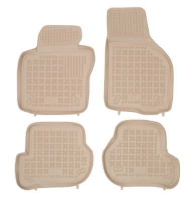 REZAW PLAST beżowe gumowe dywaniki samochodowe Volkswagen Golf V Kombi od 2007-2009r. 200206B