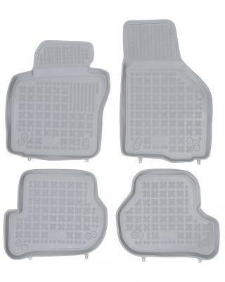REZAW PLAST popielate gumowe dywaniki samochodowe Seat Leon II od 2005-2012r. 200206S