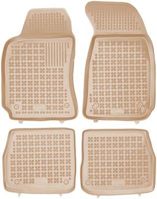 REZAW PLAST beżowe gumowe dywaniki samochodowe Skoda SuperB I od 2001-2008r. 200207B/Z