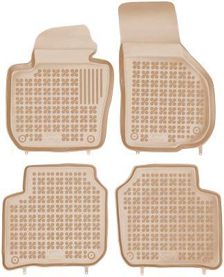 REZAW PLAST beżowe gumowe dywaniki samochodowe Skoda SuperB II od 2008-2015r. 200208B/Z