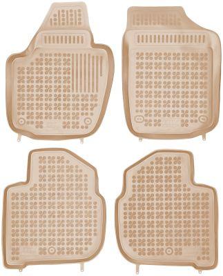 REZAW PLAST beżowe gumowe dywaniki samochodowe Skoda Rapid Spaceback od 2013r. 200209B/Z