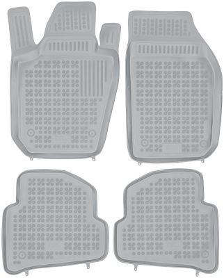 REZAW PLAST popielate gumowe dywaniki samochodowe Skoda Fabia III od 2014r. 200211S/Z