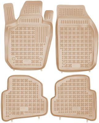 REZAW PLAST beżowe gumowe dywaniki samochodowe Skoda Fabia III od 2014r. 200211B/Z