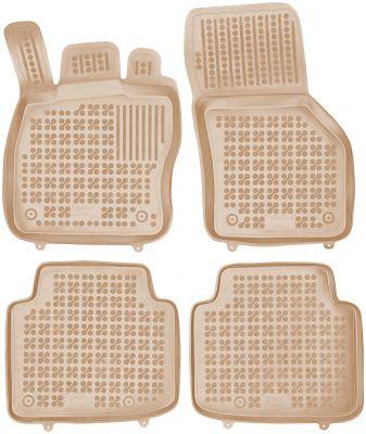 REZAW PLAST beżowe gumowe dywaniki samochodowe Skoda SuperB III od 2015r. 200212B/Z