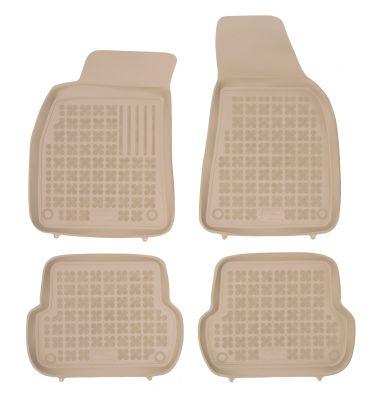REZAW PLAST beżowe gumowe dywaniki samochodowe Audi A4 B6 B7 od 2000-2007r. 200301B
