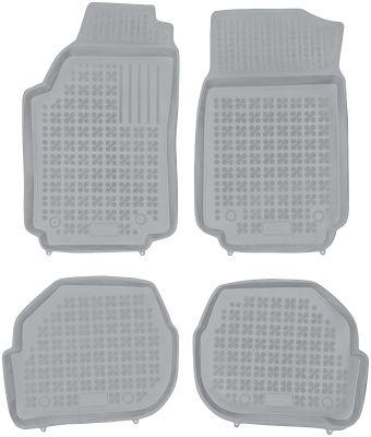REZAW PLAST popielate gumowe dywaniki samochodowe Audi 100 od 1982-1994r. 200302S/Z