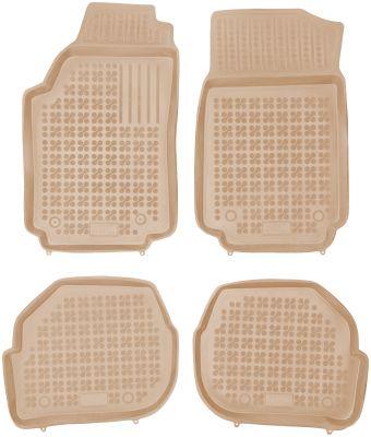 REZAW PLAST beżowe gumowe dywaniki samochodowe Audi 100 od 1982-1994r. 200302B/Z