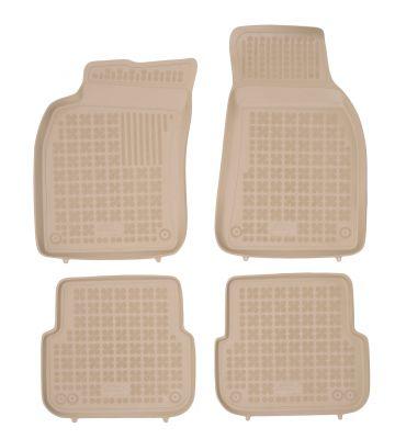 REZAW PLAST beżowe gumowe dywaniki samochodowe Audi A6 Sedan od 2004-2011r. 200303B