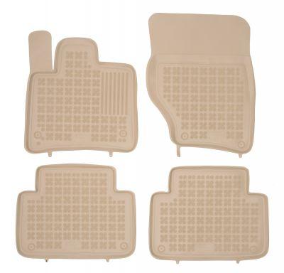 REZAW PLAST beżowe gumowe dywaniki samochodowe Audi Q7 od 2005-2014r. 200307B