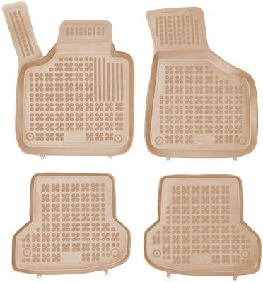 REZAW PLAST beżowe gumowe dywaniki samochodowe Audi A3-S3 od 2006-2012r. 200311B/Z