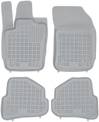 REZAW PLAST popielate gumowe dywaniki samochodowe Audi A1 od 2010r. 200313S/Z