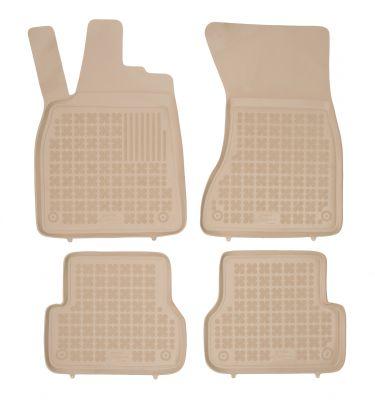 REZAW PLAST beżowe gumowe dywaniki samochodowe Audi A6 C7 IV od 2011-2018r. 200314B