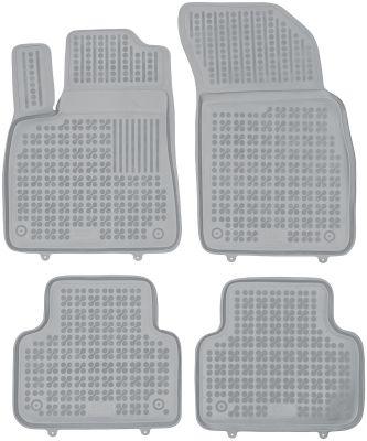 REZAW PLAST popielate gumowe dywaniki samochodowe Audi Q7 7-osobowe od 2015r. 200318S/Z