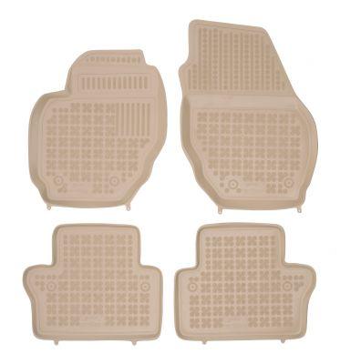 REZAW PLAST beżowe gumowe dywaniki samochodowe Volvo V70 III od 2007-2016r. 200406B