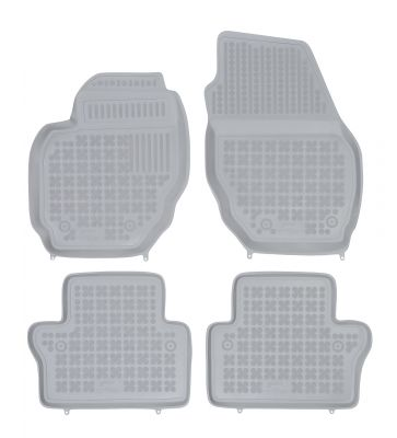 REZAW PLAST popielate gumowe dywaniki samochodowe Volvo V70 III od 2007-2016r. 200406S