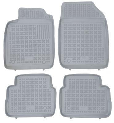 REZAW PLAST popielate gumowe dywaniki samochodowe Opel Vectra C Limuzyna Sedan od 2002-2008r. 200502S