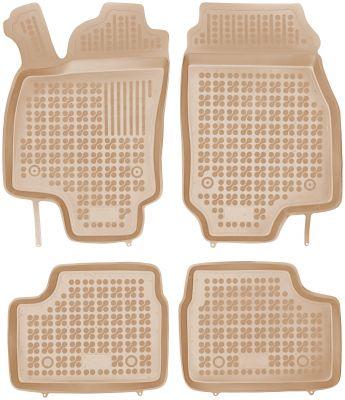 REZAW PLAST beżowe gumowe dywaniki samochodowe Opel Astra II G od 1998-2009r. 200505B/Z