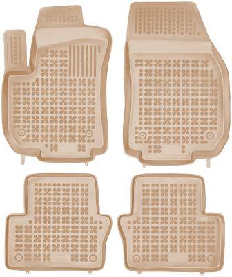 REZAW PLAST beżowe gumowe dywaniki samochodowe Opel Zafira B od 2005r. 200507B/Z