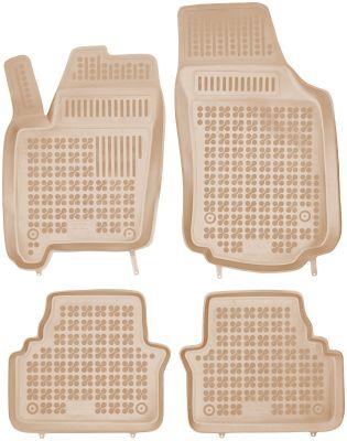 REZAW PLAST beżowe gumowe dywaniki samochodowe Opel Meriva A od 2003-2010r. 200509B/Z