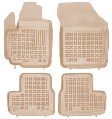 REZAW PLAST beżowe gumowe dywaniki samochodowe Opel Agila II B od 2008-2014r. 200512B/Z