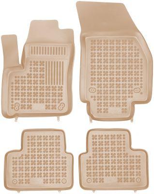 REZAW PLAST beżowe gumowe dywaniki samochodowe Opel Meriva B od 2010r. 200513B/Z