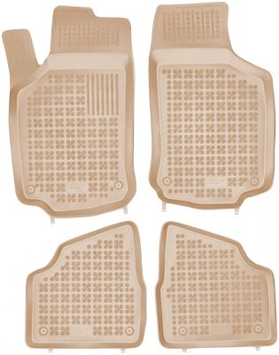 REZAW PLAST beżowe gumowe dywaniki samochodowe Opel Corsa C od 2000-2006r. 200514B/Z