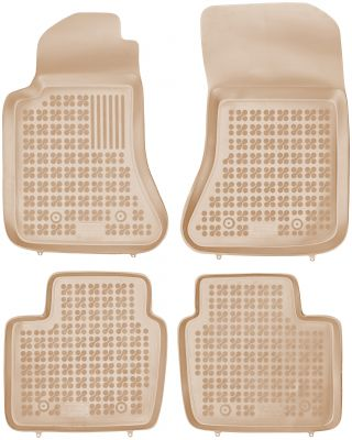 REZAW PLAST beżowe gumowe dywaniki samochodowe Opel Omega B od 1994-2003r. 200517B/Z