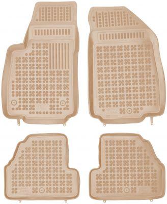 REZAW PLAST beżowe gumowe dywaniki samochodowe Opel Mokka od 2012-2017r. 200519B/Z