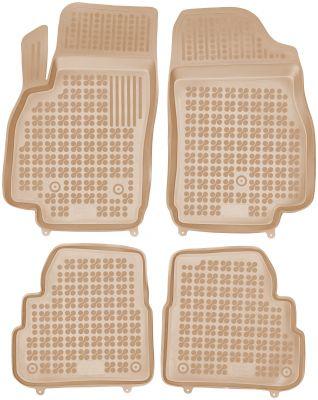 REZAW PLAST beżowe gumowe dywaniki samochodowe Opel Karl od 2015r. 200521B/Z
