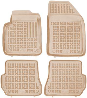 REZAW PLAST beżowe gumowe dywaniki samochodowe Ford Fiesta V MK5 od 2005-2008r. 200603B/Z