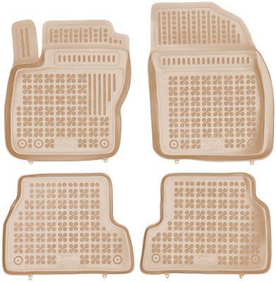 REZAW PLAST beżowe gumowe dywaniki samochodowe Ford Focus II od 2004-2011r. 200604B/Z