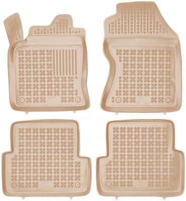 REZAW PLAST beżowe gumowe dywaniki samochodowe Ford Focus I od 1998-2005r. 200608B/Z