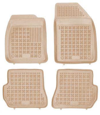 REZAW PLAST beżowe gumowe dywaniki samochodowe Ford Fiesta V MK5 od 2002-2006r. 200610B/Z