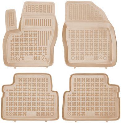 REZAW PLAST beżowe gumowe dywaniki samochodowe Ford C-Max I/II od 2003-2010r. / od 2010r. 200612B/Z