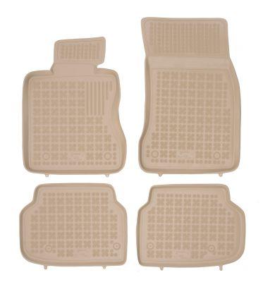 REZAW PLAST beżowe gumowe dywaniki samochodowe BMW s7 F01 od 2007-2015r. 200707B